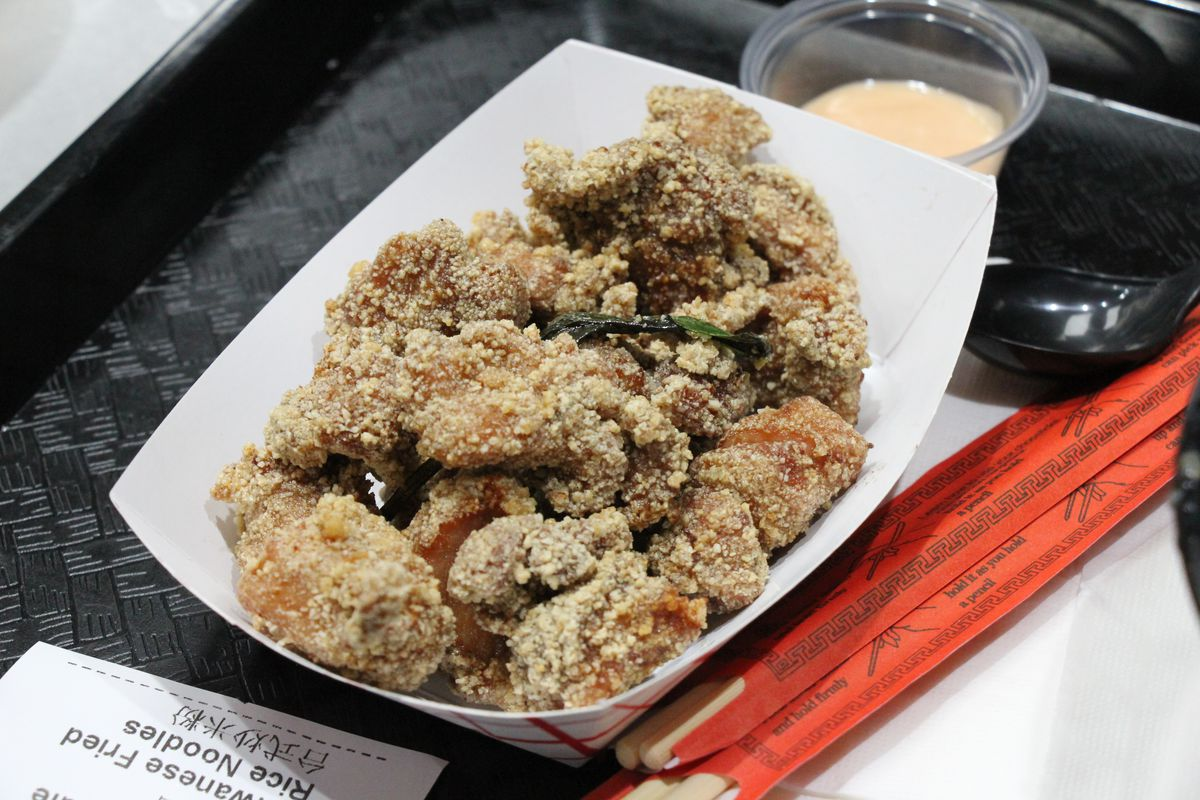 Hang's popcorn chicken at HK Food Court in Elmhurst