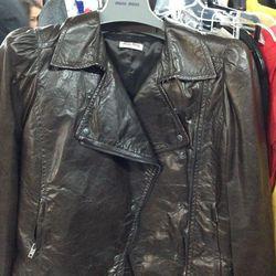 Perfect Miu Miu shrunken moto jacket.