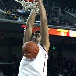 Omar Oraby finishes off a slam.