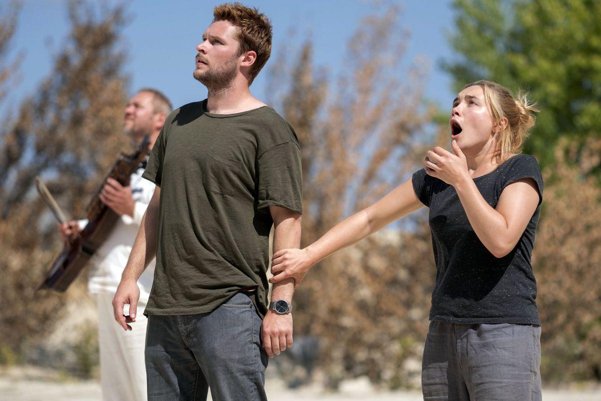 Christian (Jack Reynor) and Dani (Florence Pugh) in shock.