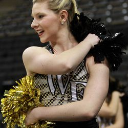 A Wake Forest Dancer entertains the crowd