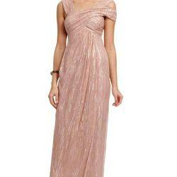 "<a href=""http://www.renttherunway.com/shop/designers/nicolemiller_dresses/trendytracygown""> Tracy Reese gown, $100 rental fee</a>, renttherunway.com"