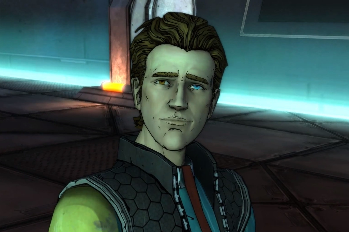 A headshot of Rhys Strongfork from Tales from the Borderlands