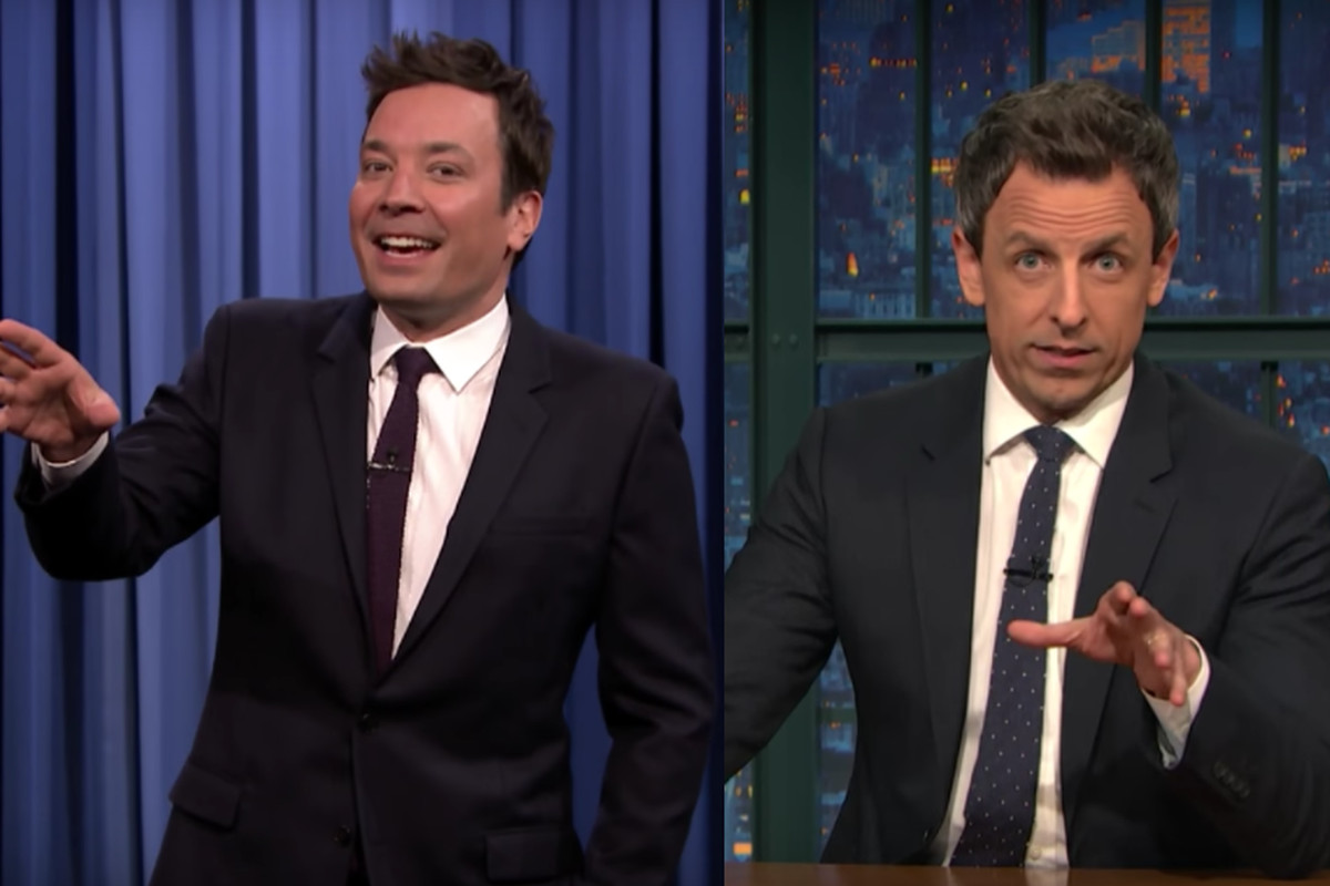 Jimmy Fallon and Seth Meyers are the faces of a growing divide in