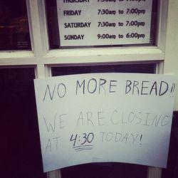 "Major run on bread at this Park Slope bakery. [<a href=""http://instagram.com/p/RVliC3AmZX/"">katkinsman / Instagram</a>]"