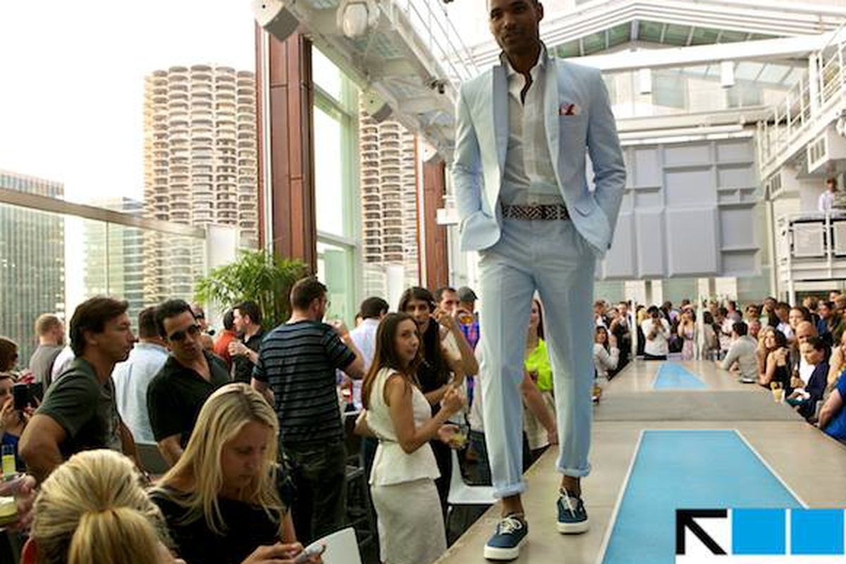 """Image from the Haberdash runway show via ROOF on theWit/<a href=""""https://www.facebook.com/ROOFontheWit"""">Facebook</a>."""