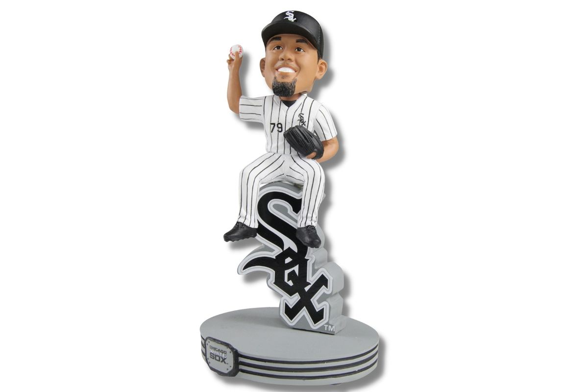 A new Jose Abreu figure from the National Bobblehead Hall of Fame and Museum marks the White Sox playoff debut Thursday.