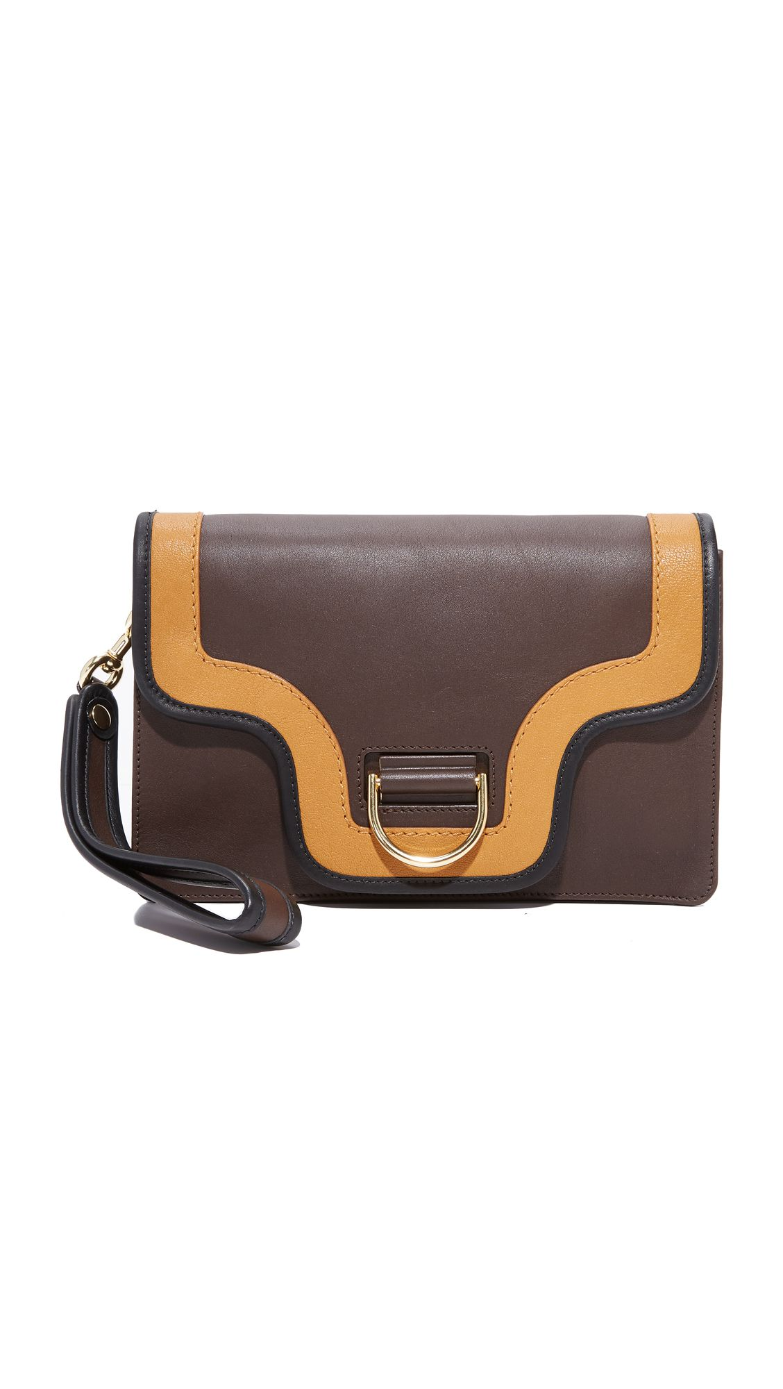 A Marc Jacobs brown and tan clutch