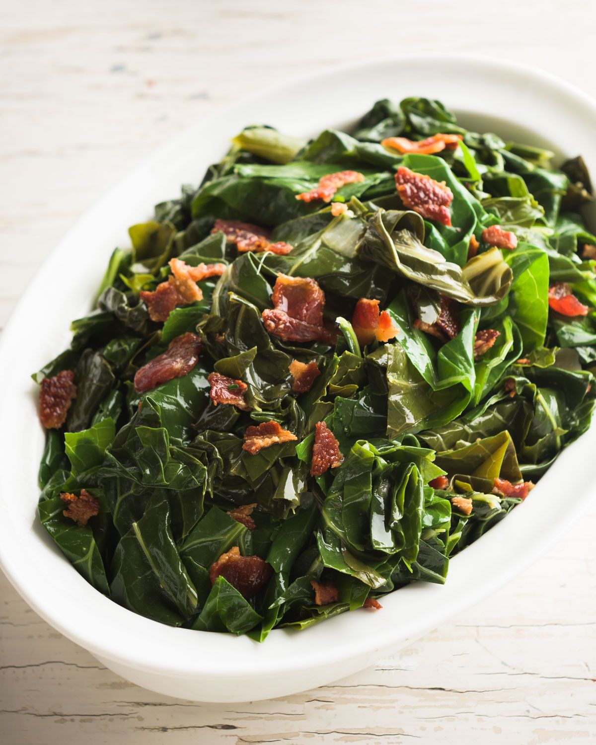 A plate of collard greens that Neiman Marcus sold last holiday season for $66.