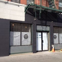 """The forthcoming Vinateria at Frederick Douglas Boulevard and 118th Street in Harlem, with a fresh coat of paint. Opening sometime next year. [<a href=""""http://harlembespoke.blogspot.com/2012/12/eat-more-progress-at-vinateria.html"""">Harlem Bespoke</a>]"""