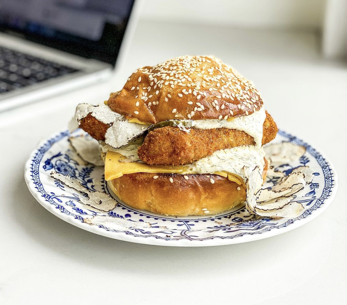 Cod sandwich from Oui Melrose in Hollywood.