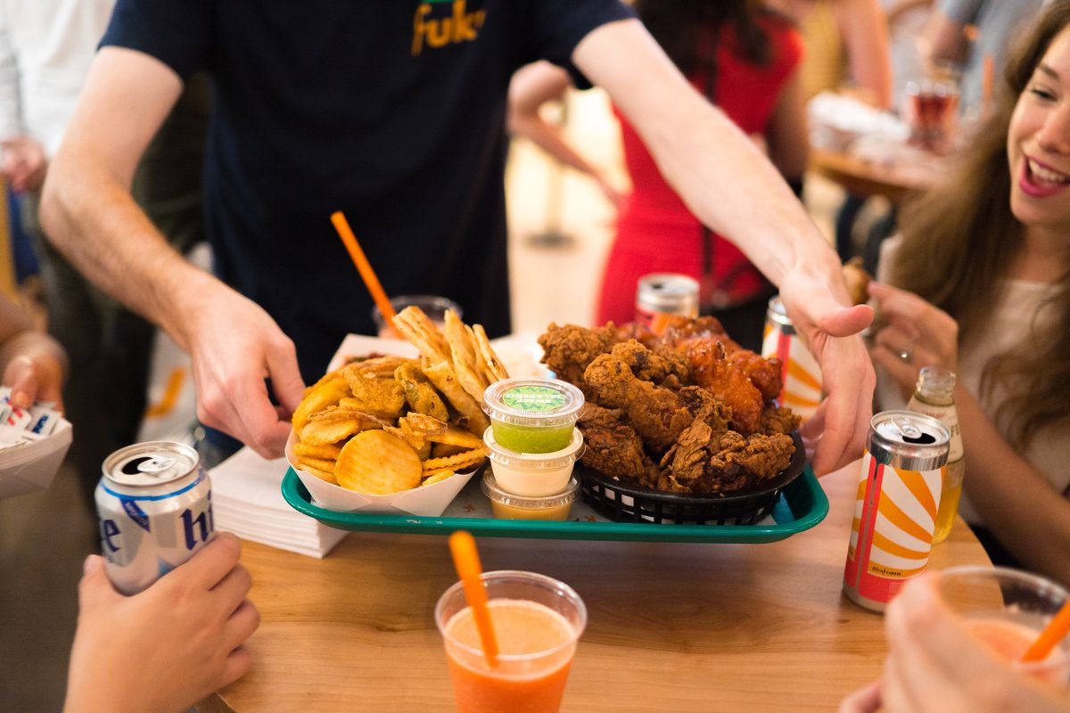 The whole fried chicken feast