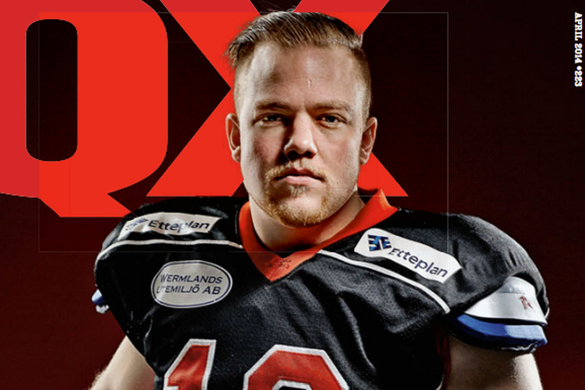 Football player Marcus Juhlin comes out on the cover of QX.