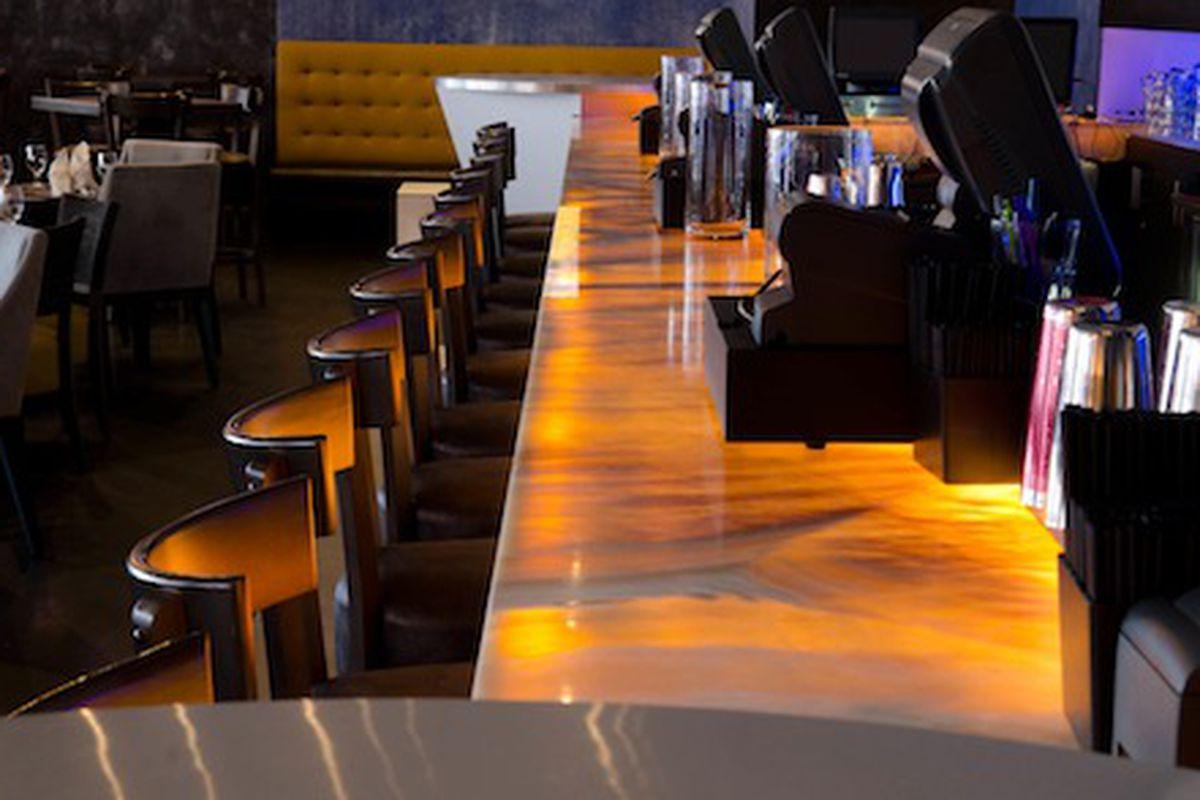 BLU's bar.