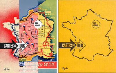 Cartes du Tour, by Paul Fournel, is available in two editions from Rapha