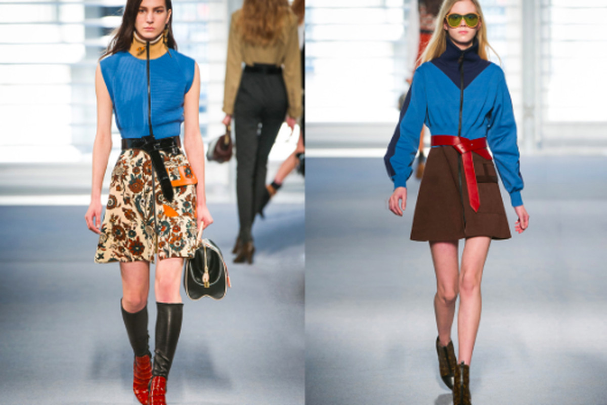 Looks from the Louis Vuitton fall 2014 runway show, via Dover Street Market
