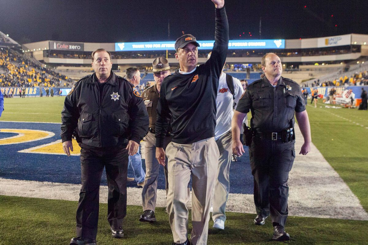 Gundy had a busy weekend visiting recruits