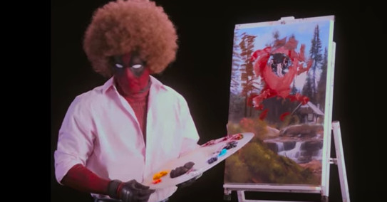 Watch Deadpool paint and shoot things in the new teaser trailer
