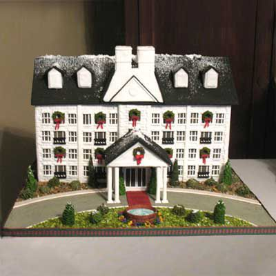 Charming gingerbread house.