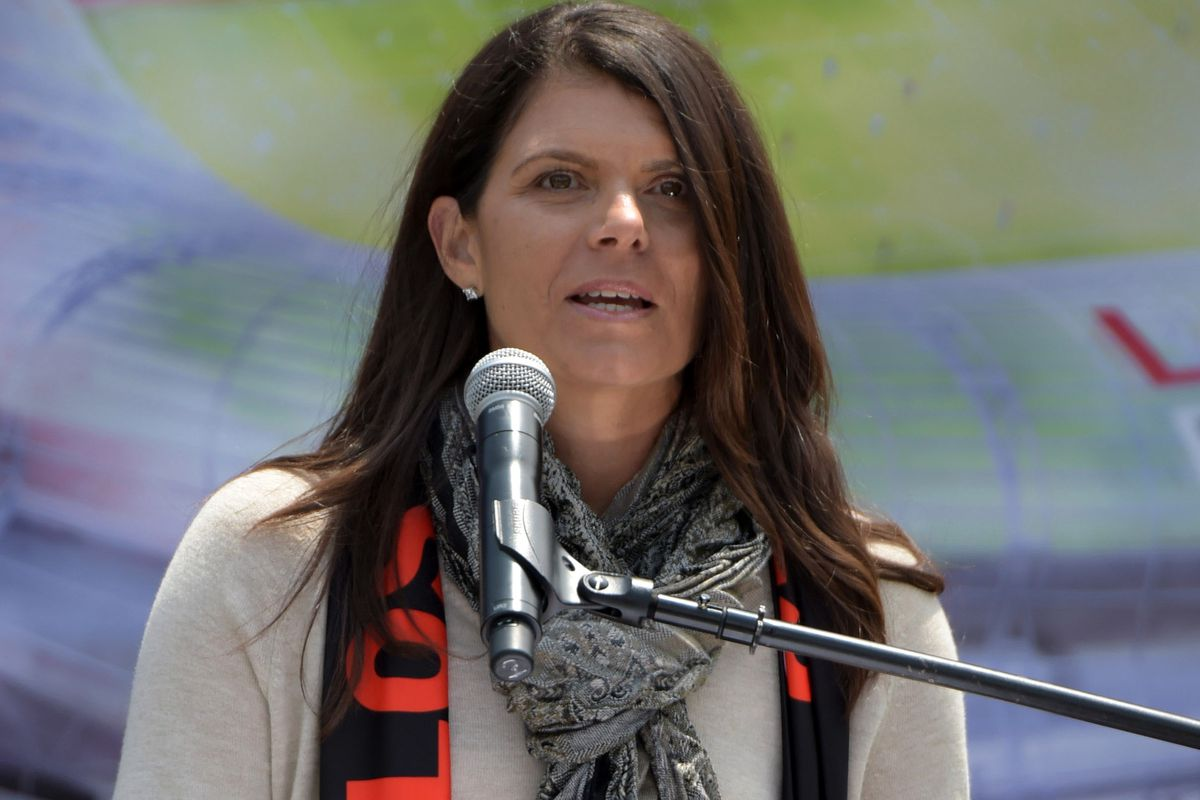 Hamm: Lending her voice to the stadium project.