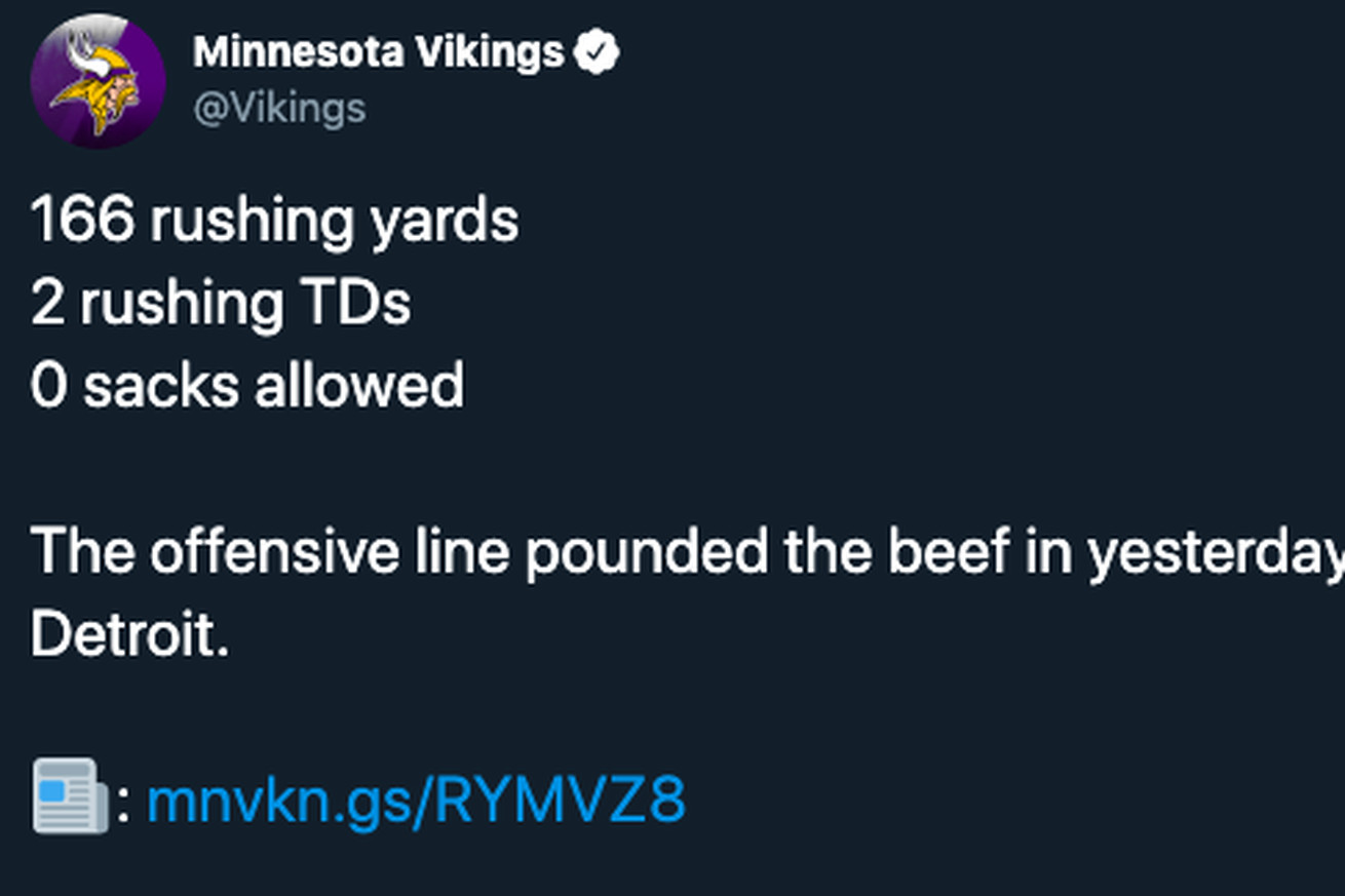 Screen Shot 2019 10 21 at 1.58.23 PM.0 - The Vikings really 'pounded the beef' and 12 other helpful football euphemisms