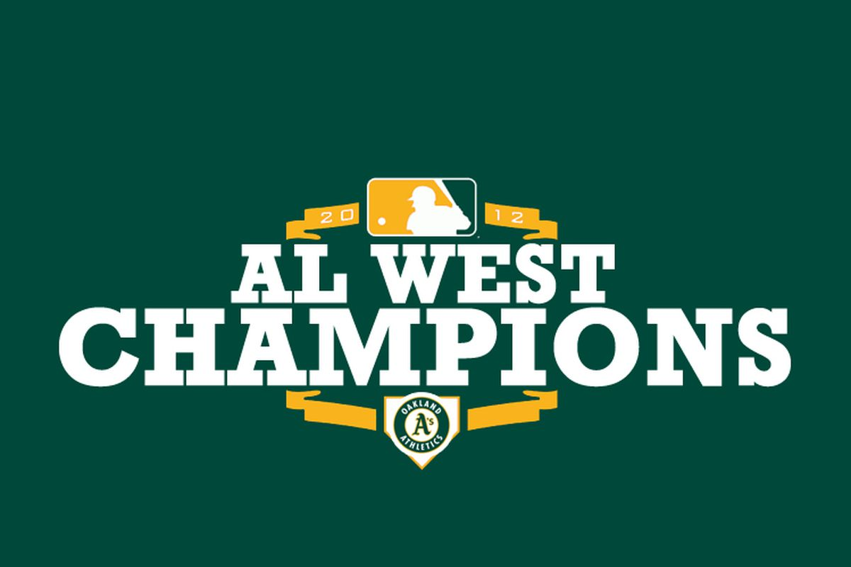 THE OAKLAND ATHLETICS ARE THE AMERICAN LEAGUE WEST CHAMPIONS