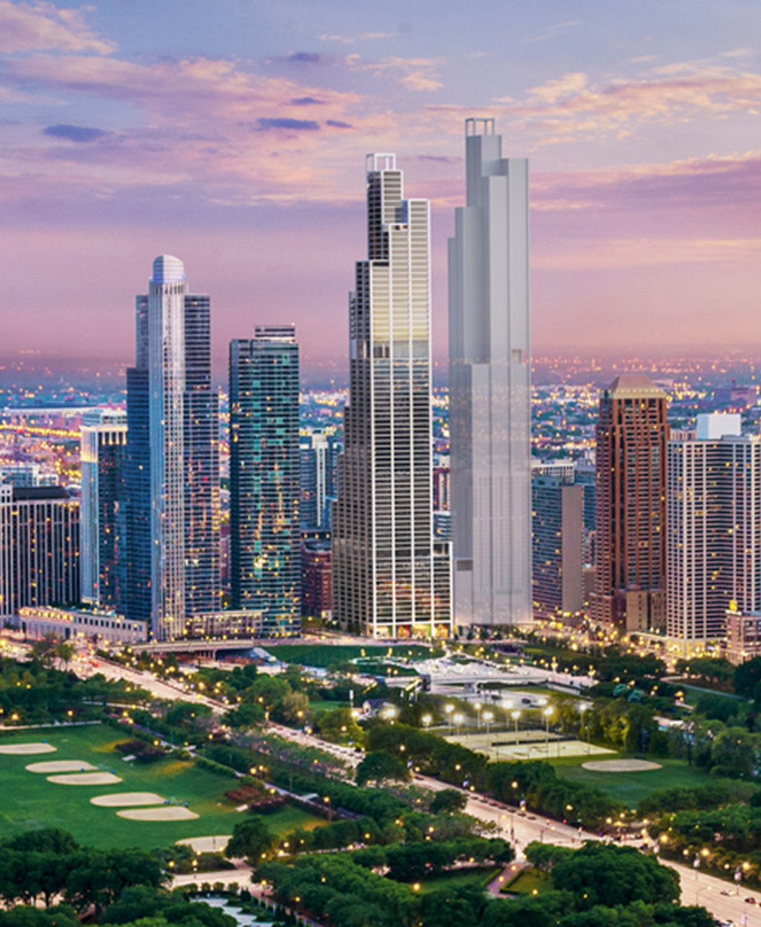 Chicago's One Grant Park Skyscraper Goes Vertical In The