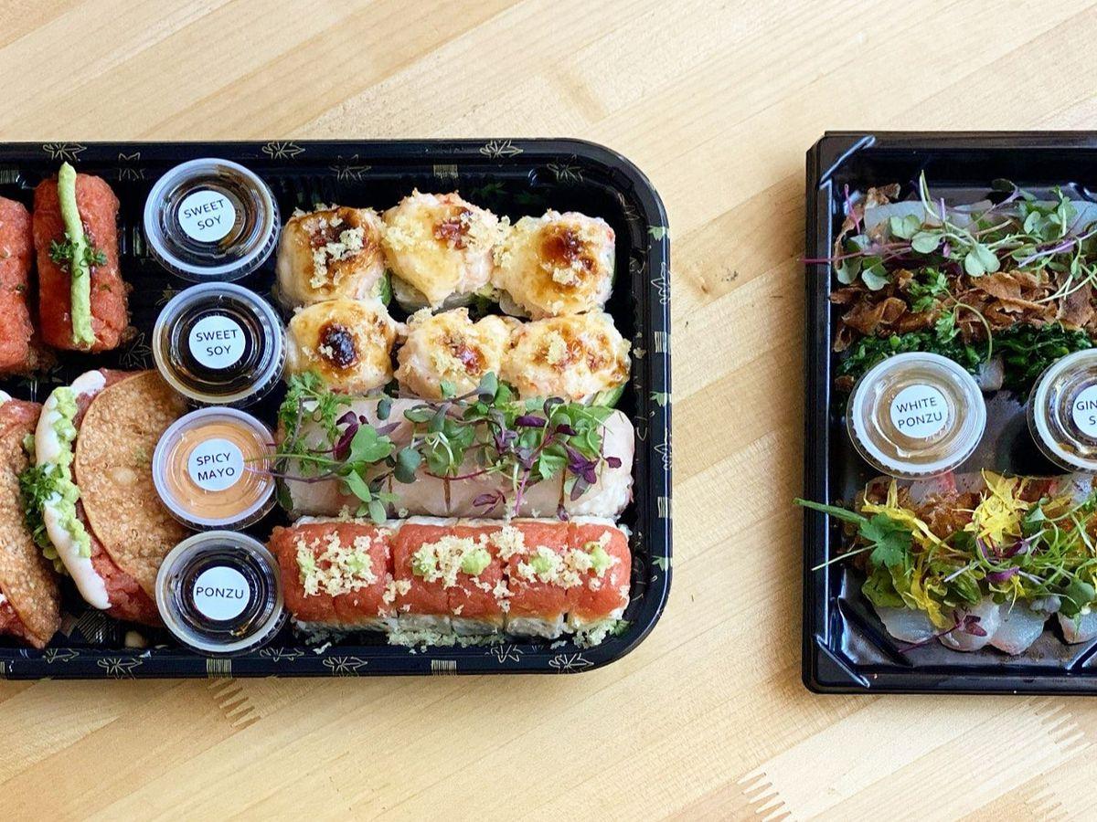 Hamasaku's sushi boxes