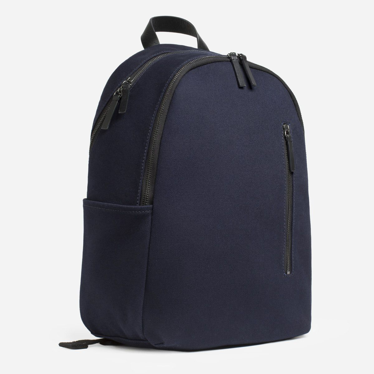 A navy and black backpack
