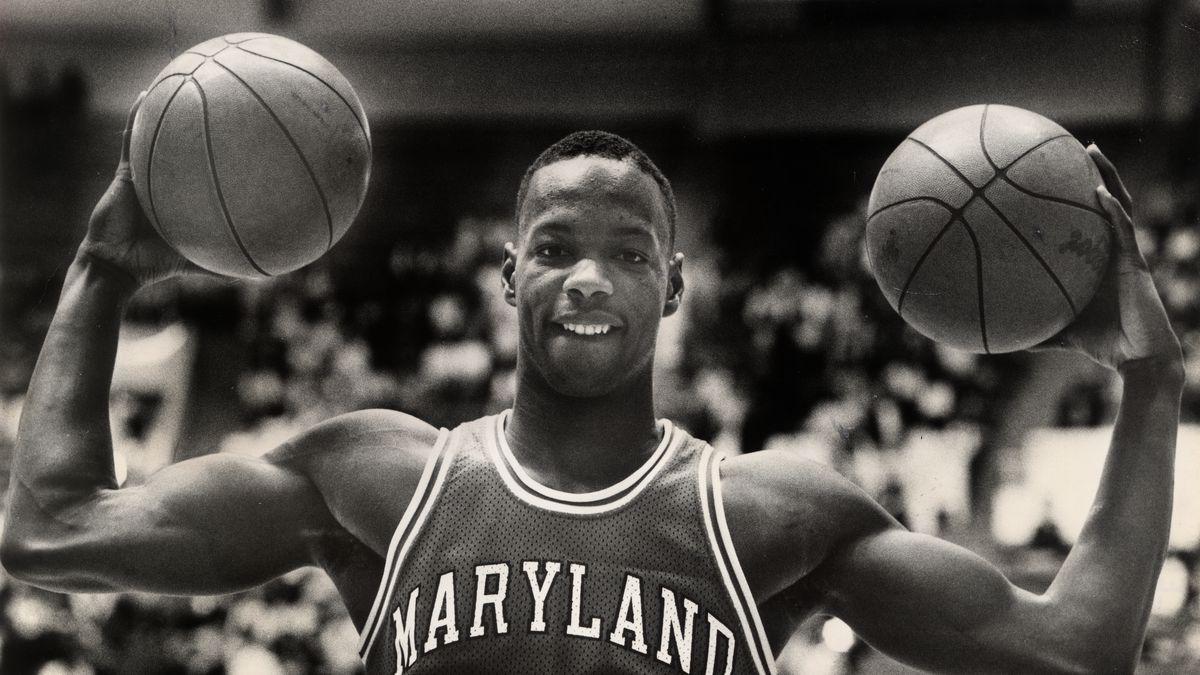 University of Maryland basketball star Len Bias, at the Univ