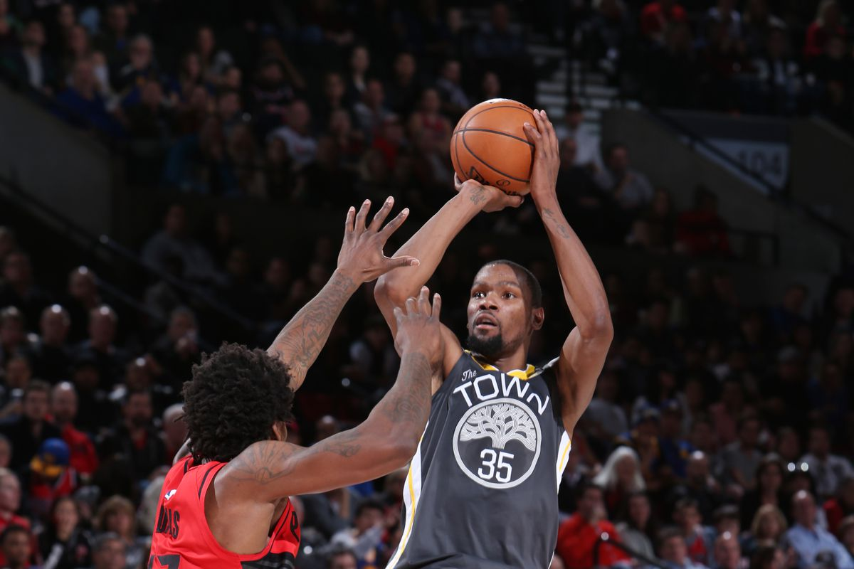 981f7820da28 Warriors lose 123-117 to Blazers  Kevin Durant