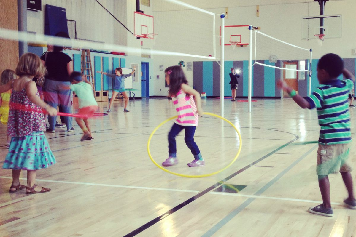 Children play in the gym of P.S. 133 in Park Slope in 2013. The school's admissions system, which sets aside some seats for low-income students and English learners, has served as a model for other schools hoping to maintain a diverse mix of students.