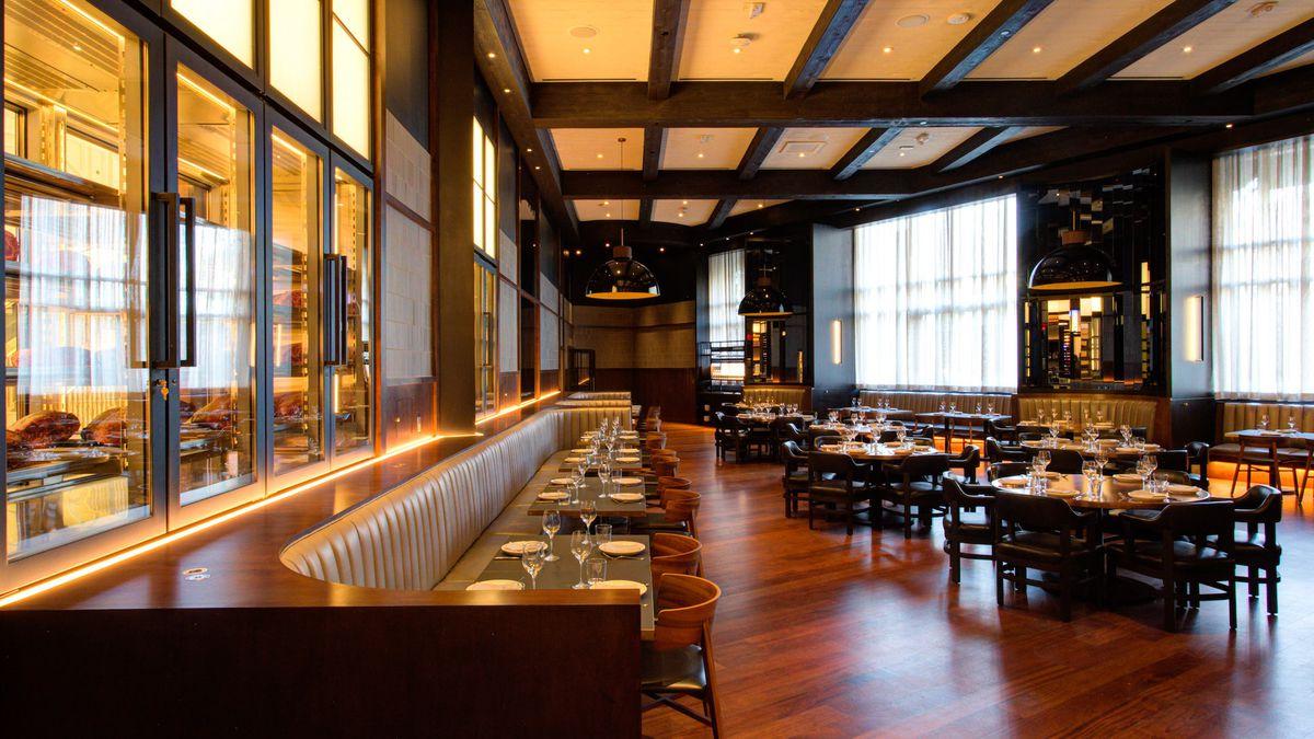 The main dining room at Majordomo Meat & Fish