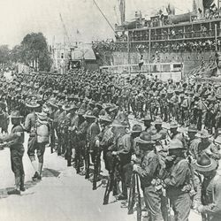 On June 26, 1917, the first U.S. troops reached France for action in World War I.