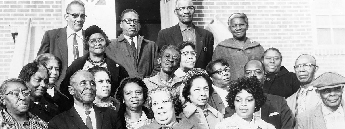 A fundraising group from the New Hope Baptist Church and NAACP in Mississippi, 1967.