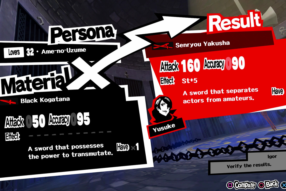 Persona 5 guide: Black Kogatana - Polygon