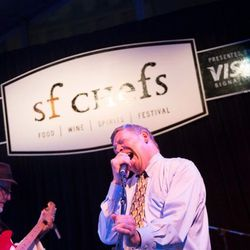 Joey Altman and the Soul Peppers heated up the grand tasting tent on Friday night.