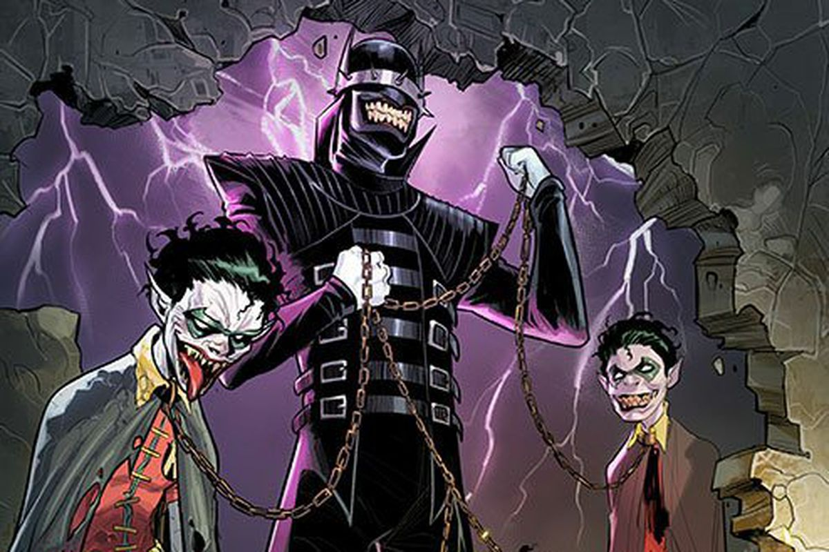 Evil Joker-Batman hybrid defeated by a very unlikely