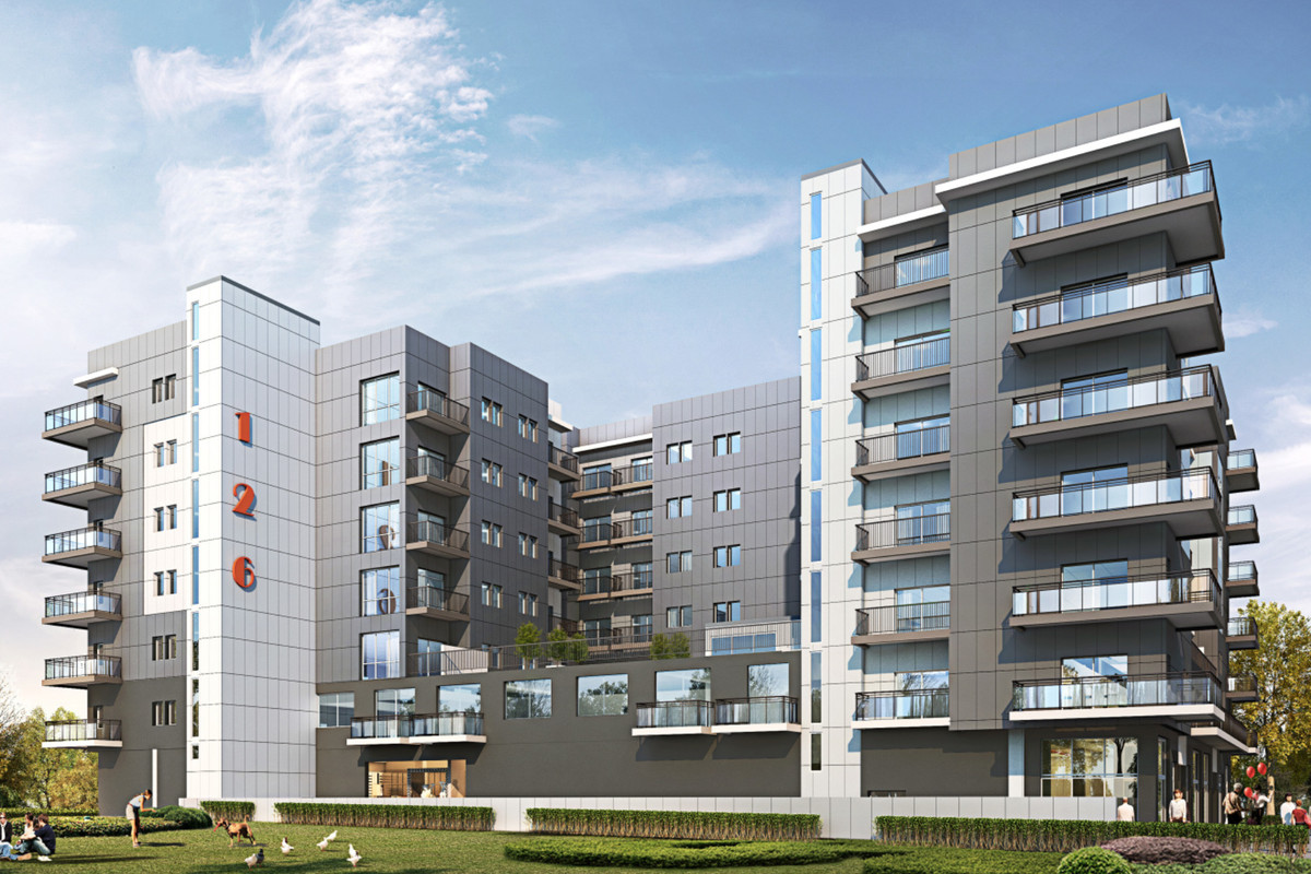 a rendering of the proposed apartment complex.