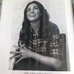 Kate changed into a different plaid shirt for this black and white shot, by British brand Cabbages & Roses.