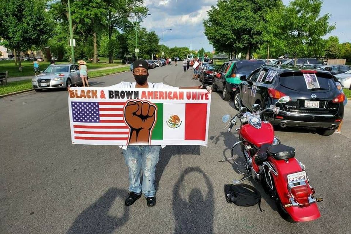 Berto Aguayo, Increase the Peace, George Floyd, protests, unity, African Americans, Latinos