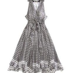 "Barneys: L'Agence Draped V-Neck Dress, $575. Available <a href=""http://www.barneys.com/Draped-V-Neck-Dress/501608997,default,pd.html?cgid=CLOTH05-1"">here</a>."