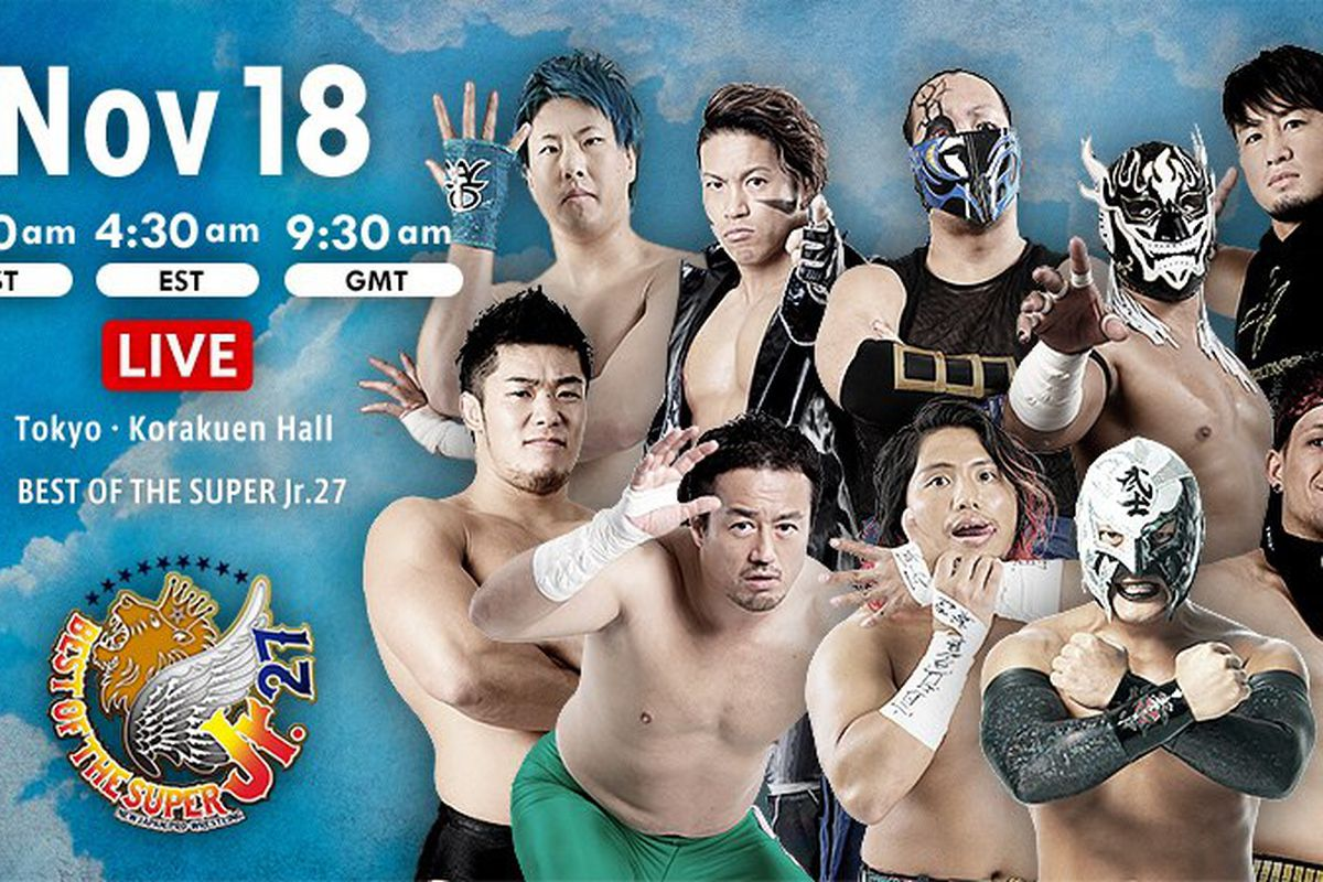 Lineup graphic for night three of NJPW Best of the Super Jr. 27