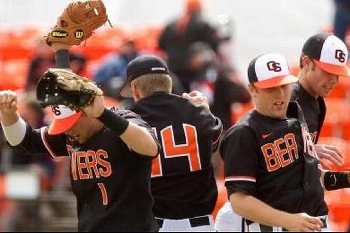 Oregon St. celebrated a road series sweep at Stanford this past weekend, but didn't pass several teams ranked ahead of them who had losses.