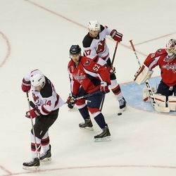 Puck Past Green and Holtby
