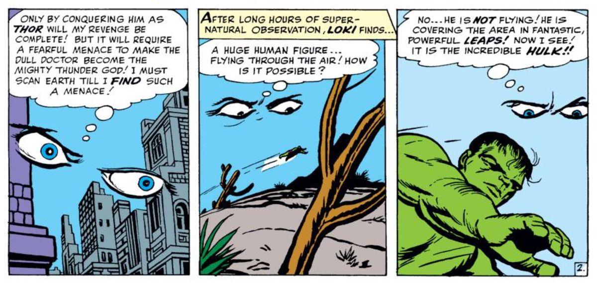 Loki and the Hulk in Avengers #1, Marvel Comics (1963).