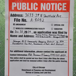 A second public notice posted on the fence on Sheffield