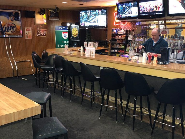 A view of the bar at Timber Lanes. | Ji Suk Yi for the Sun-Times