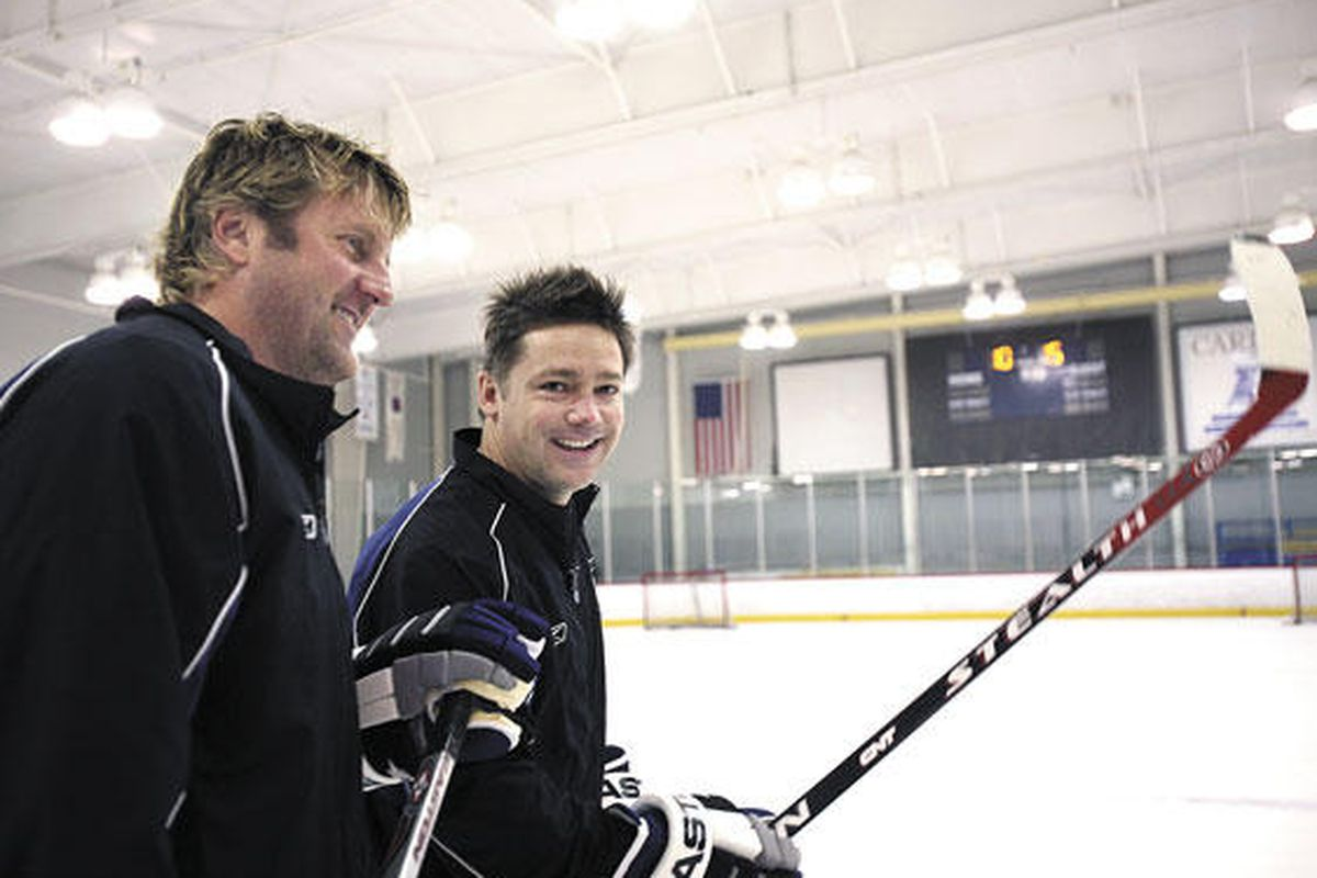 """Len Barrie and Oren Koules together on ice.  photo via <a href=""""http://tampabay.bizjournals.com/tampabay/stories/2008/08/04/focus2.html"""">Tampa Bay Business Journal</a>"""