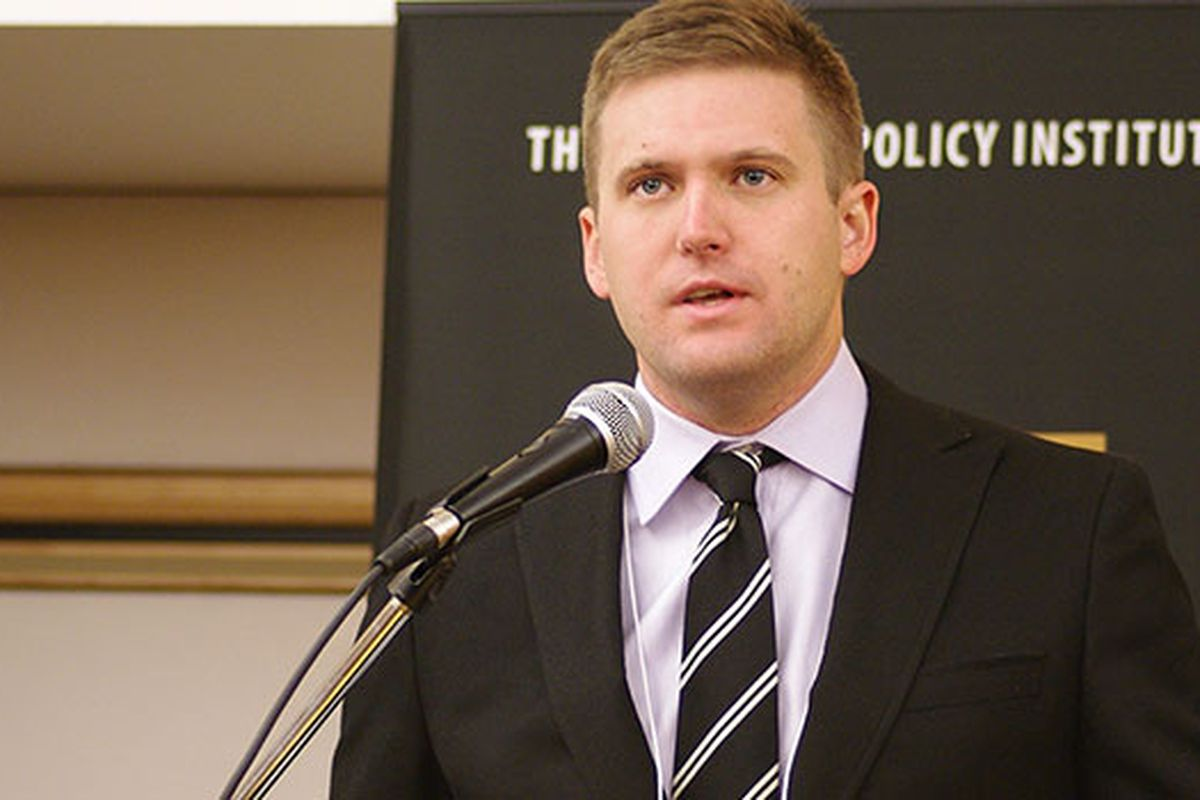 Richard Spencer, a leader of the white nationalist alt-right, at a press conference.